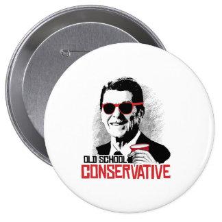 Reagan - conservador de la escuela vieja pin redondo 10 cm
