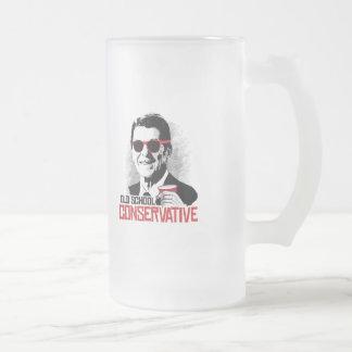 Reagan - conservador de la escuela vieja taza de cristal