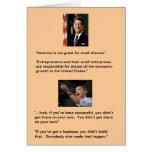 Reagan contra Obama Tarjeta De Felicitación