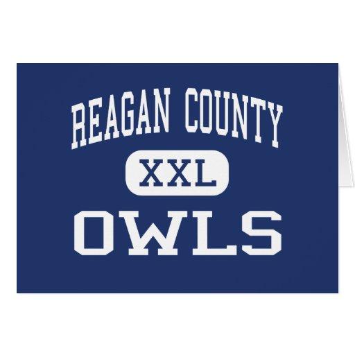 Reagan County - Owls - High - Big Lake Texas Greeting Card