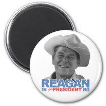 Reagan Cowboy 1980 Magnet