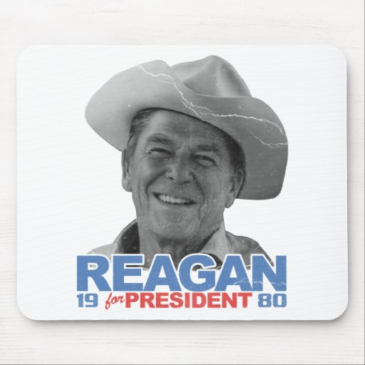 Reagan Cowboy 1980 Mouse Pads