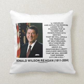 Reagan Destiny Principles Shining City On A Hill Throw Pillow