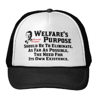 Reagan: El propósito del bienestar Gorras