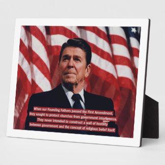 Reagan First Amendment Plaques
