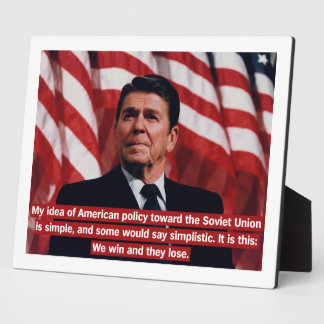 Reagan Foreign Policy Photo Plaque