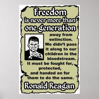 Reagan: Freedom's Extinction Poster