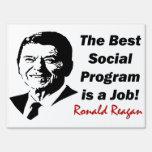 Reagan: Get A Job! Sign