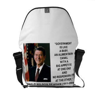 Reagan Government Like Baby Alimentary Canal Big Courier Bag