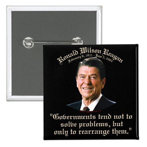 Reagan Government & Problems Buttons