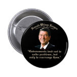 Reagan Government & Problems Pinback Buttons
