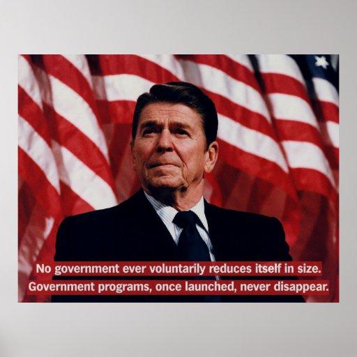 Reagan Government Programs Poster