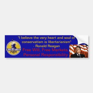 Reagan Libertarian Bumper Sticker