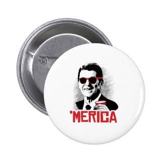 Reagan 'Merica Pin Redondo 5 Cm