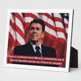 Reagan Military Quote Plaques