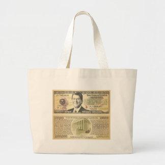 Reagan millón de bolsos del dólar bolsa tela grande