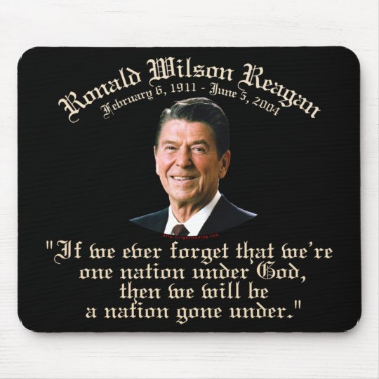 Reagan Nation Under God Mouse Pad