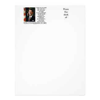 Reagan Not Make Age An Issue Campaign Youth Quote Letterhead