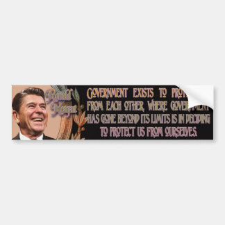 Reagan on Government's Purpose Bumper Sticker