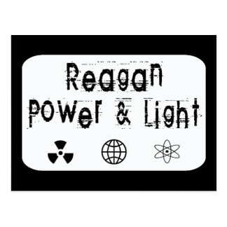 Reagan Power and Light, White Postcard