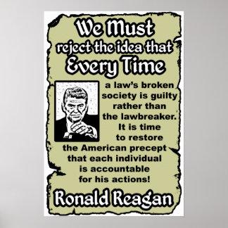 Reagan: Punish The Lawbreaker Poster