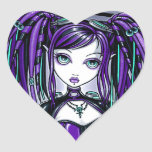 """Reagan"" Purple Cyber Goth Fairy Stickers"