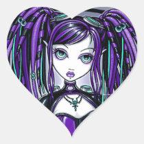 reagan, fairy, cyber, goth, gothic, aviatrix, faery, fae, faerie, industrial, myka, jelina, mika, falls, faeries, Sticker with custom graphic design