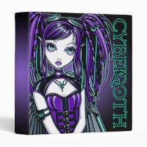 reagan, fairy, purple, cybergoth, gothic, dreads, cyber, goth, faery, faerie, fantasy, art, myka, jelina, industrial, dark, Fichário com design gráfico personalizado
