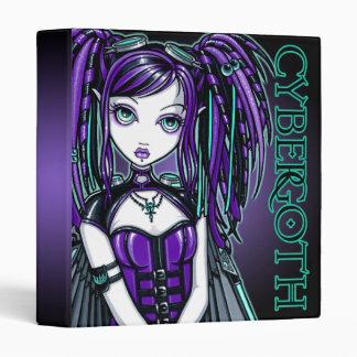 """Reagan"" Purple Cybergoth Fairy Binder"