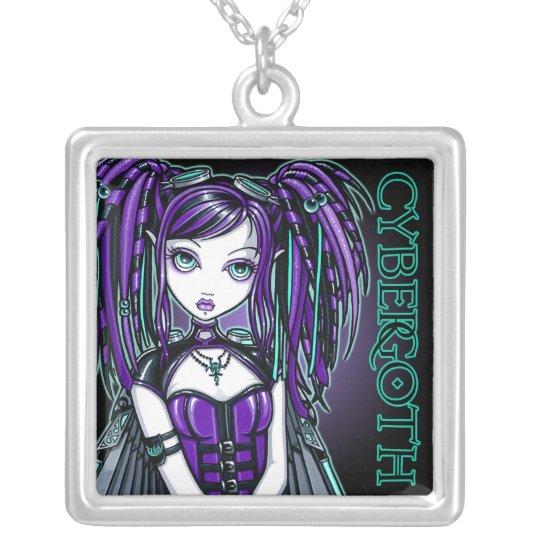 """Reagan"" Purple Cybergoth Fairy Necklace"