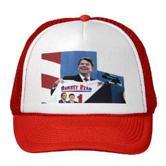 Reagan que apoya a Romney-Ryan Gorras
