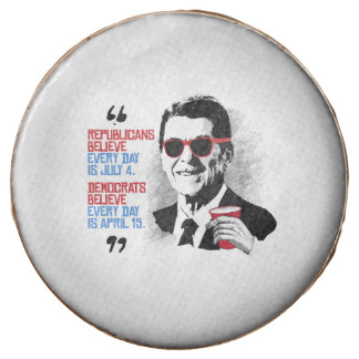 Reagan Quote - Every day is April Chocolate Dipped Oreo