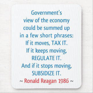 Reagan Quote Mouse Pad