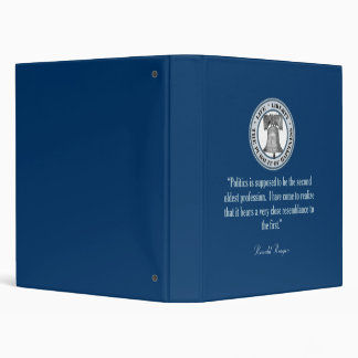 Reagan Quote (Oldest Profession) 3 Ring Binder
