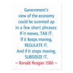 Reagan Quote Postcard