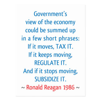 Reagan Quote Postcards