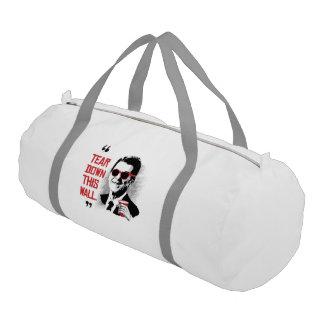 Reagan Quote - Tear Down This Wall Gym Duffle Bag