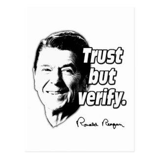 Reagan Quote Trust But Verify Postcard