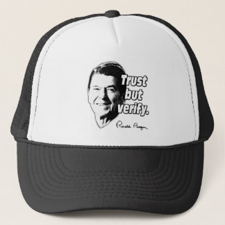 Reagan Quote Trust But Verify Trucker Hat