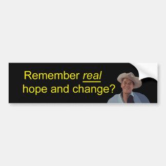 Reagan Remember Real Hope Bumper Sticker