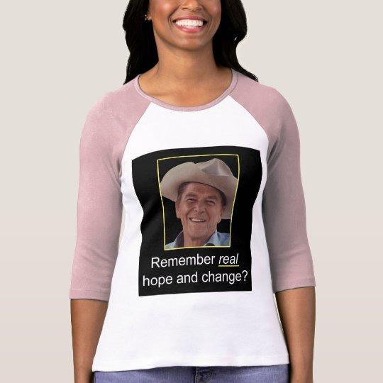 Reagan Remember Real Hope Raglan Shirt
