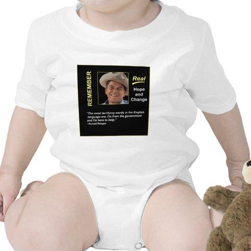 Reagan Remember Real Hope T Shirts