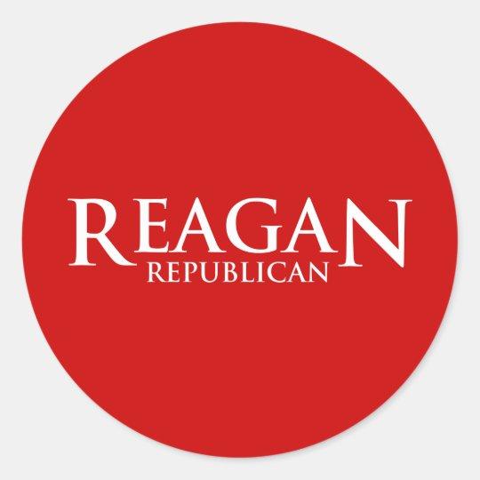 Reagan Republican Classic Round Sticker