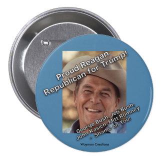 Reagan Republican for Trump Button