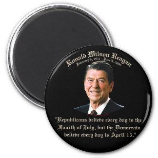 Reagan Republicans vs Democrats 2 Inch Round Magnet