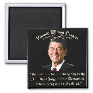 Reagan Republicans vs Democrats 2 Inch Square Magnet