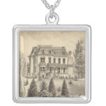 Reagan residence, Oakland, Alameda Co Square Pendant Necklace