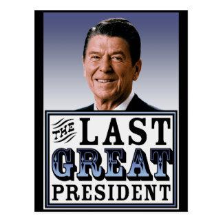 Reagan The Last Great President Postcard