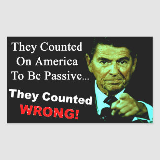 Reagan: They Counted Wrong! Rectangular Sticker