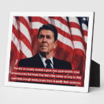 Reagan War on Poverty Quote Display Plaques